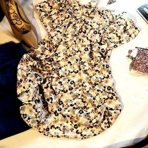 Women's LC Lauren Conrad Floral Tie-Neck Blouse